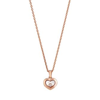 Chopard Happy Diamonds 18ct Rose Gold Diamond Heart Pendant - Product number 8031282