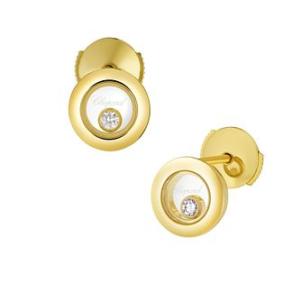Chopard Happy Diamonds Icons 18ct Yellow Gold Stud Earrings - Product number 8031576