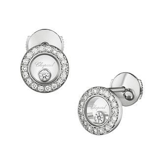 Chopard Happy Diamonds Icons 18ct White Gold Stud Earrings - Product number 8031592