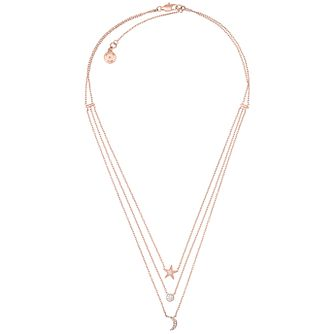 Michael Kors Celestial Rose Gold-Tone Charm Necklace - Product number 8031770