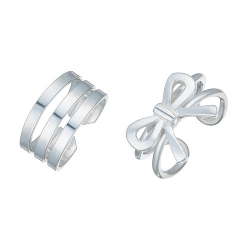 Sterling Silver Set of 2 Ear Cuff - Product number 8032394