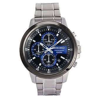 Seiko Men's Stainless Steel Chronograph Bracelet Watch - Product number 8032483