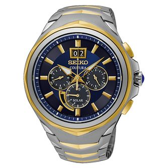 Seiko Coutura Men's Two Tone Steel Chronograph Watch - Product number 8032513