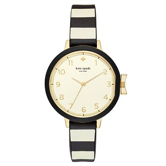 Kate Spade Yellow Gold Tone Park Row Strap Watch - Product number 8039151