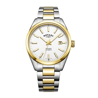 Rotary Havana Men's Two Colour Bracelet Watch - Product number 8042659