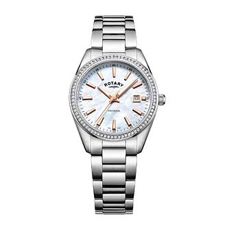 Rotary Havana Ladies' Stainless Steel Stone Set Watch - Product number 8042667