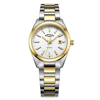Rotary Havana Ladies' Two Colour White Dial Watch - Product number 8042675