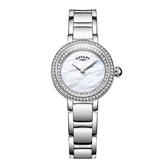 Rotary Cocktail Ladies' Stone Set Mother Of Pearl Watch - Product number 8043043