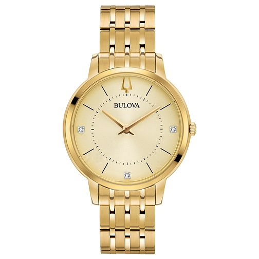 Bulova Ladies' Gold Plated Bracelet Watch - Product number 8043531
