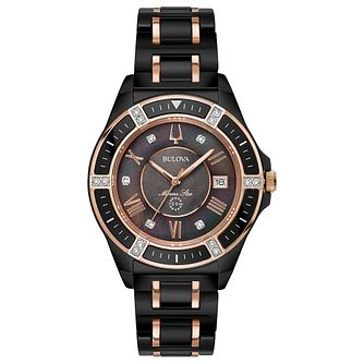 Bulova Ladies' Marine Star Black Ceramic Bracelet Watch - Product number 8043604