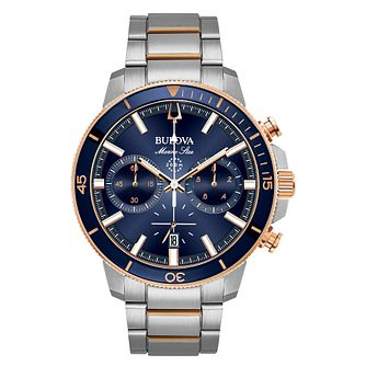Bulova Men's Marine Star Stainless Steel Bracelet Watch - Product number 8043728