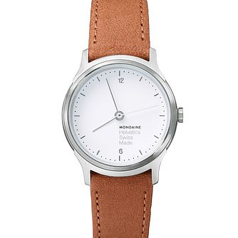 Mondaine Helvetica No1 Light Ladies' Leather Strap Watch - Product number 8043760