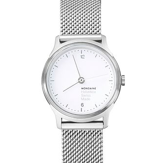 Mondaine Helvetica No1 Light Ladies' Mesh Bracelet Watch - Product number 8043779