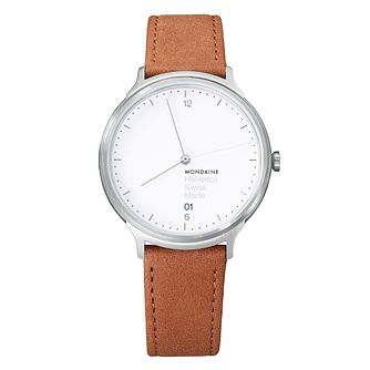 Mondaine Helvetica No1 Light Ladies' Leather Strap Watch - Product number 8043795