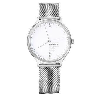 Mondaine Helvetica No1 Light Ladies' Mesh Bracelet Watch - Product number 8043809