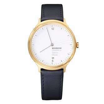 Mondaine Helvetica No1 Light Ladies' Leather Strap Watch - Product number 8043817