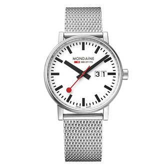 Mondaine SBB evo2 Big Date Men's Mesh Strap Watch - Product number 8044074