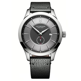 Victorinox Men's Alliance Black Leather Strap Watch - Product number 8044155