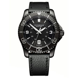 Victorinox Maverick Men's Leather Strap Watch - Product number 8044228