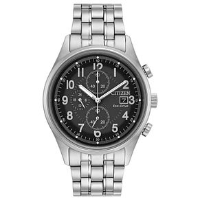 Citizen Men's Eco Drive Chandler Black Stainless Steel Watch - Product number 8046298