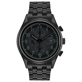 Citizen Men's Eco Drive Ion Plated Chronograph Watch - Product number 8046344