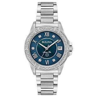 Bulova Marine Star Ladies' Stainless Steel Bracelet Watch - Product number 8047081