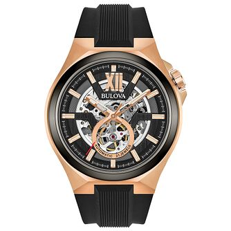 Bulova Automatic Men's Rose Gold Plated Steel Strap Watch - Product number 8047138