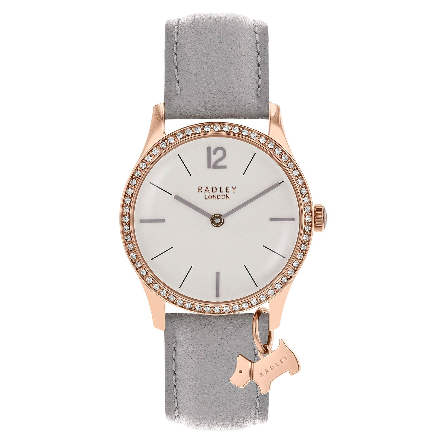 Radley London Millbank Ladies' Grey Leather Strap Watch - Product number 8048525