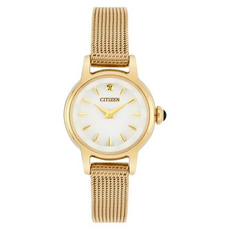 Citizen Ladies' Gold Tone Mesh Bracelet Watch - Product number 8048681