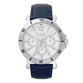 Versus Versace Steenberg Men's Blue Leather Strap Watch - Product number 8049297