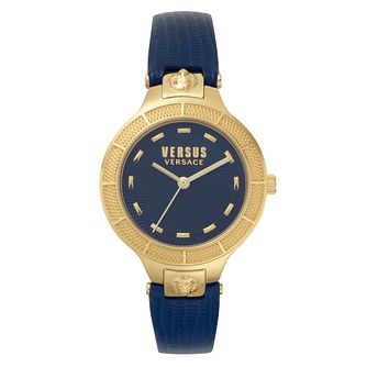 Versus Versace Claremont Ladies' Blue Leather Strap Watch - Product number 8049793