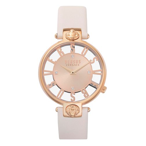Versus Versace Kirstenhof Ladies' White Leather Strap Watch - Product number 8049947