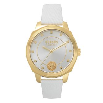 Versus Versace Chelsea Ladies' White Leather Strap Watch - Product number 8050120