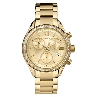 Timex Ladies' Style Gold Tone Stainless Steel Bracelet Watch - Product number 8050619