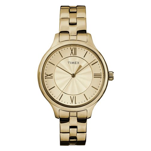 Timex Ladies' Champagne Dial Gold Tone Bracelet Watch - Product number 8050732