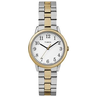 Timex Ladies' Easy Reader Two Tone Expandable Strap Watch - Product number 8050775
