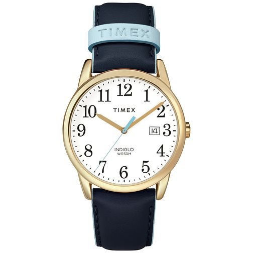 Timex Ladies' Easy Reader Blue Leather Strap Watch - Product number 8050821