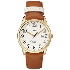 Timex Ladies' Easy Reader White Dial Tan Leather Strap Watch - Product number 8050848