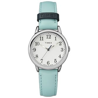 Timex Ladies' Easy Reader Blue Leather Strap Watch - Product number 8051062