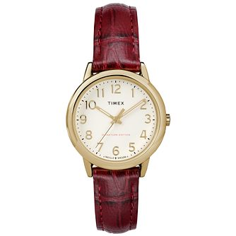 Timex Ladies' Easy Reader Natural Dial Brown Strap Watch - Product number 8051089