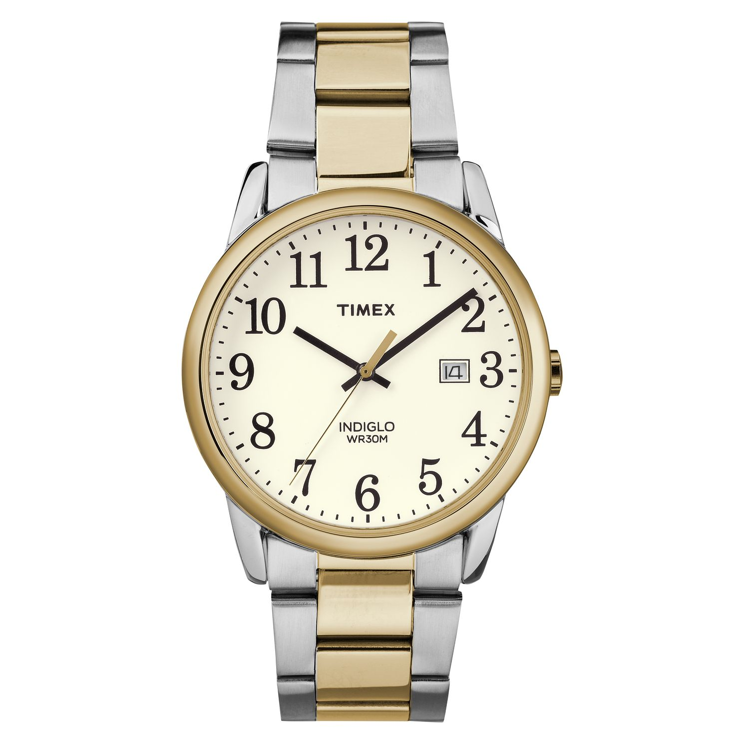 Timex Men's Easy Reader Two Tone Steel Bracelet Watch - Product number 8053960