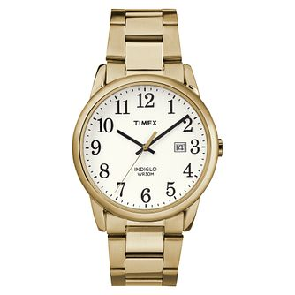 Timex Men's Easy Reader Gold Tone Steel Bracelet Watch - Product number 8054061