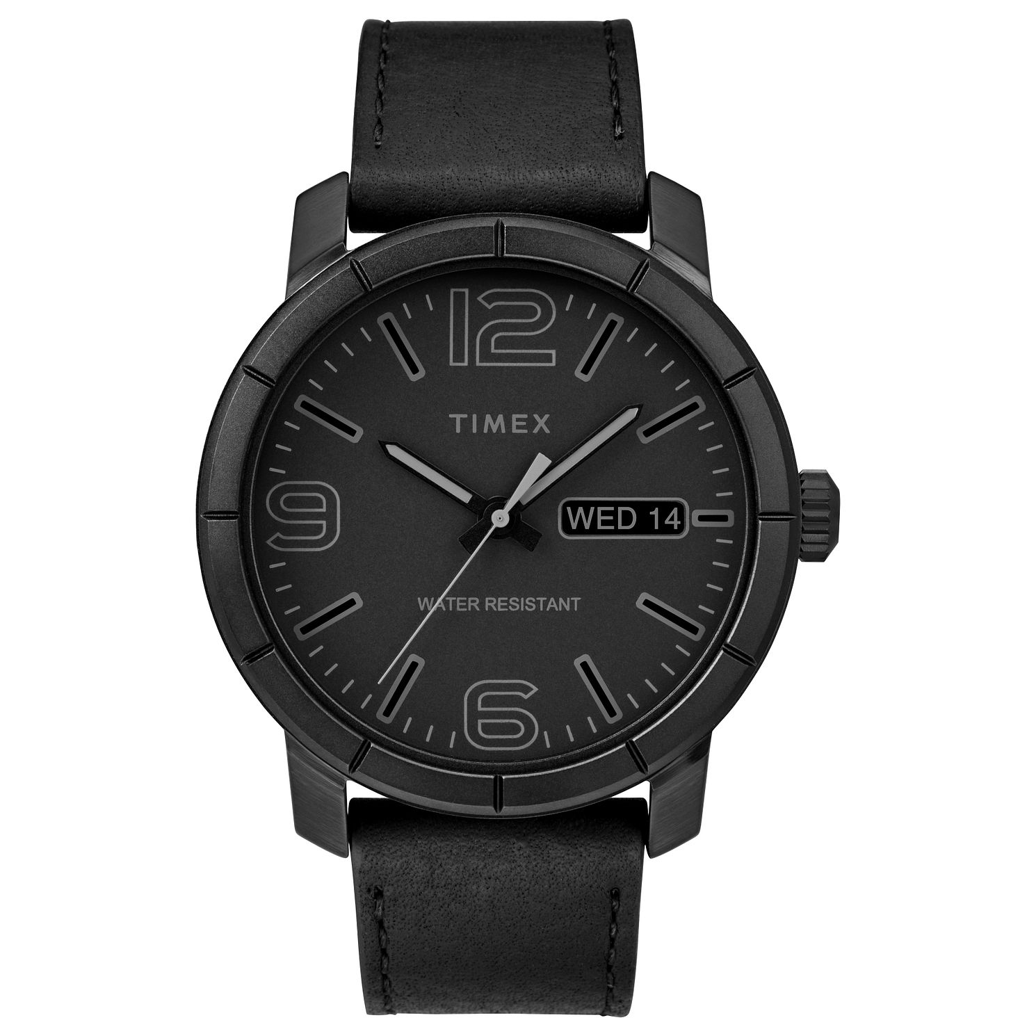 Timex Men's Classic Black Dial Black Leather Strap Watch - Product number 8055491