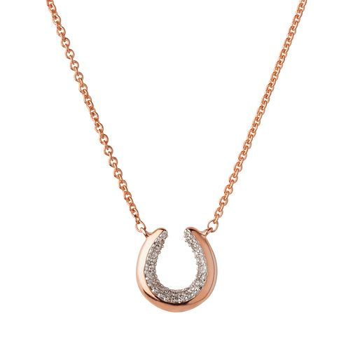 Links of London Ascot Rose Gold Plated Horseshoe Necklace - Product number 8056358