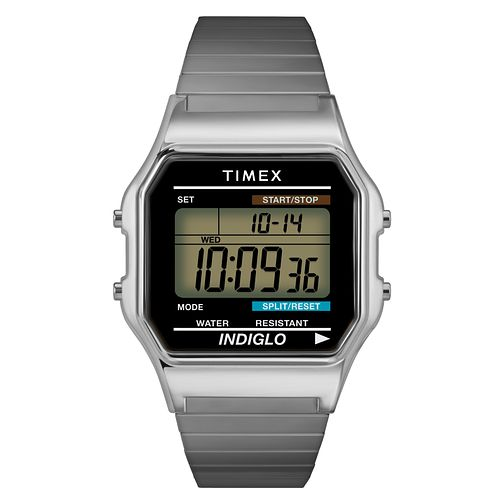 Timex Men's Stainless Steel Expandable Strap Digital Watch - Product number 8058725