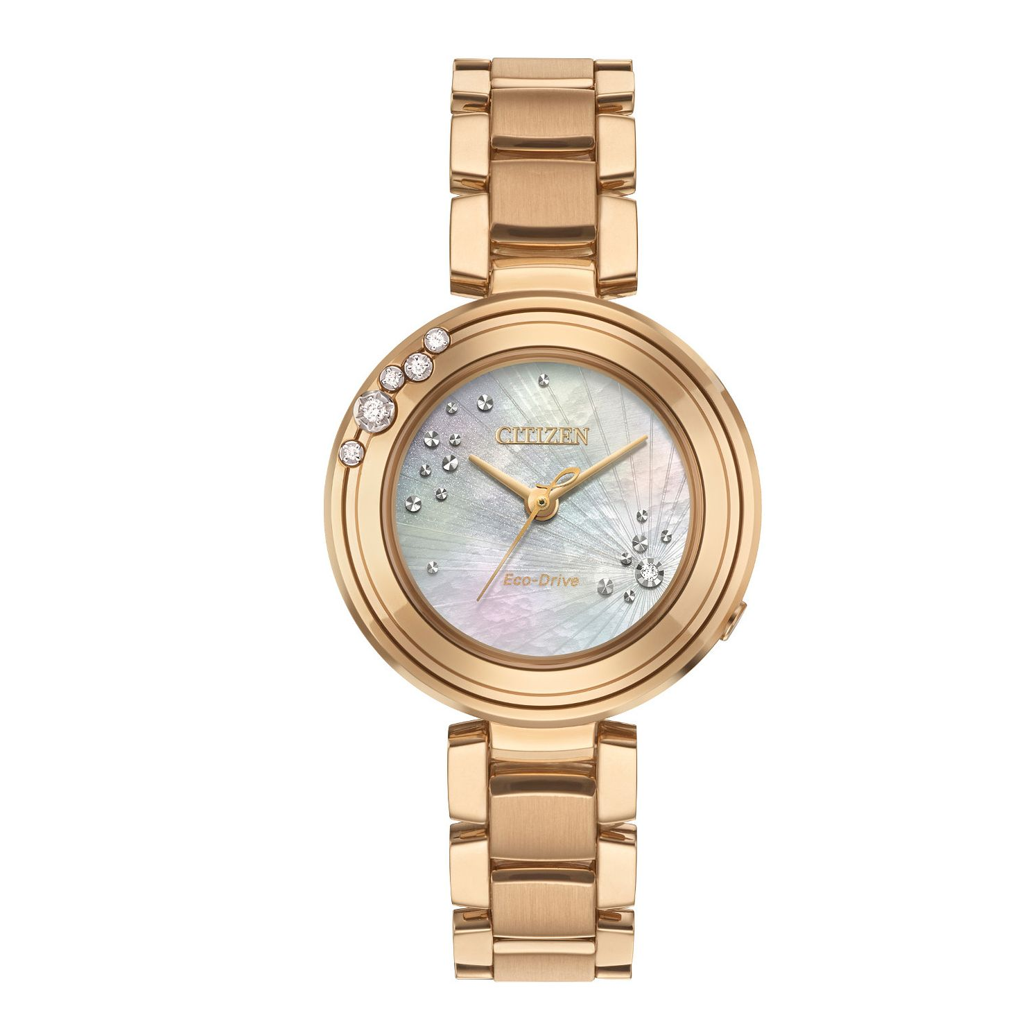 Citizen Carina Diamond Ladies' Rose Gold Tone Bracelet Watch - Product number 8061106