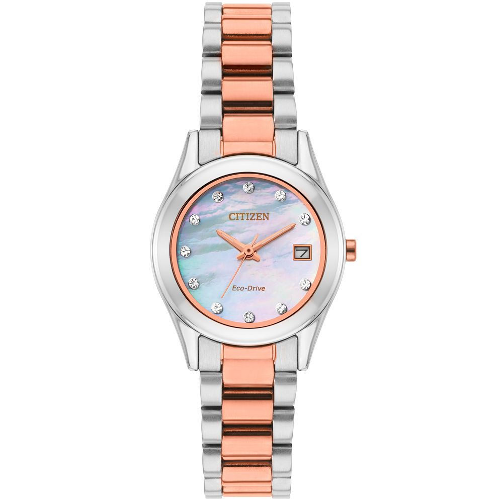 Citizen Eco-Drive Swarovski Ladies' Two-Tone Bracelet Watch - Product number 8061114