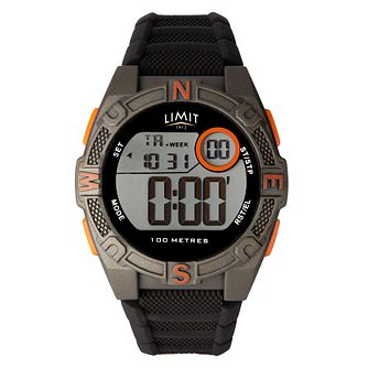 Limit Digital Men's Black Silicone Strap Watch - Product number 8061181