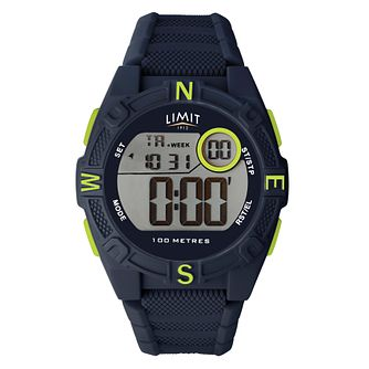 Limit Digital Men's Blue Silicone Strap Watch - Product number 8061211