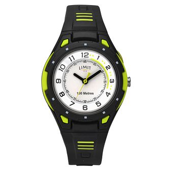 Limit Men's Black Plastic Strap Watch - Product number 8061262